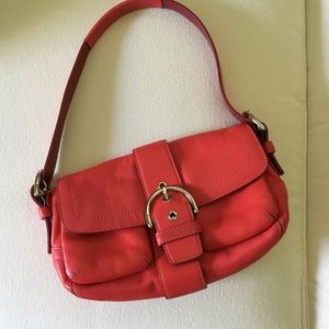 Small Coach Leather Buckle Bag